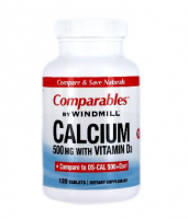 Windmill Comparables Calcium 500 mg Tablets With Vitamin D3 120 Tablets [035046000769]