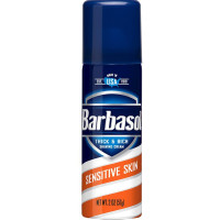 Barbasol Thick & Rich Shaving Cream, Sensitive Skin 2 oz [051009000256]