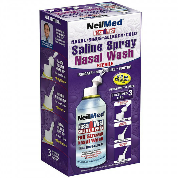 NeilMed Extra Strength NasaMist Saline Nasal Spray Drug Free Nasal Decongestant ( fl oz) DermatologistOnCall and its healthcare providers are not agents, employees or affiliates of Walgreens. For non-emergency conditions.