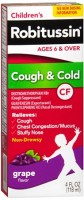 Robitussin CF Children's Cough & Cold Liquid, Grape Flavor 4 oz [300318716120]