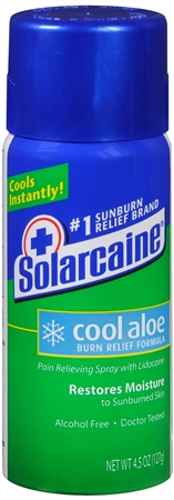 Solarcaine Cool Aloe Burn Relief Spray 4.50 oz [041100086471]