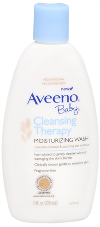 AVEENO Baby Cleansing Therapy Moisturizing Wash 8 oz [381371018444]