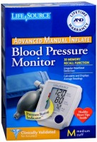 LifeSource Advanced Blood Pressure Monitor Manual Inflate UA-705V 1 Each [093764601576]