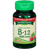 Nature's Truth Sublingual B-12 6000 mcg Fast Dissolve Tabs Natural Berry Flavor 36 ea [840093102072]