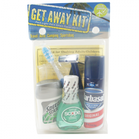 Travel Kit  Get-Away Men's (7 piece) 1 ea [079718000015]