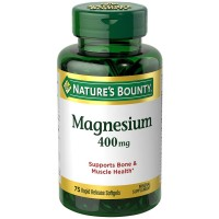Nature's Bounty Magnesium 400 mg Softgel 75 ea [074312594083]