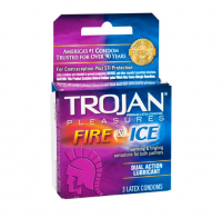 TROJAN Fire & Ice Condoms Lubricated Latex 3 Each [022600960034]