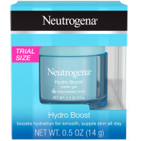 Neutrogena Hydro Boost Hyaluronic Acid Hydrating Water Face Gel Moisturizer for Dry Skin, Oil-Free, Non Comedogenic, Travel Size .5 oz [070501113493]