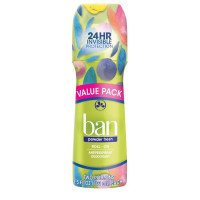 Ban Roll-On Antiperspirant Deodorant, Twin Pack, Powder Fresh 7 oz [019045224760]