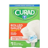 "Curad Pro-Sorb Rolled Gauze Sterile Roll, White, 2"" x 2.5 yds [884389159760]"