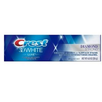 Crest 3D White Luxe Diamond Strong Whitening Toothpaste, Brilliant Mint 4.8 oz [037000971320]
