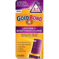 Gold Bond Pain & Itch Relief Antiseptic Spray  2 oz [041167019023]