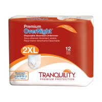 Tranquility Premium Overnight Disposable Absorbent Underwear (DAU), 2XL, 22 ea [070319021188]