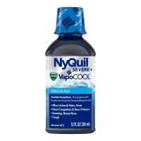 Vicks NyQuil Severe with Vapocool Nighttime Cold & Flu Relief Liquid, 12 oz [323900039414]