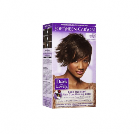Dark and Lovely Fade Resistant Rich Conditioning Color, No. 373, Brown Sable, 1 ea [072790003738]