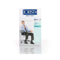 JOBST Men's Dress Knee High 8-15 Closed Toe Socks, Navy, X-Large, 1 ea [035664107871]