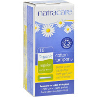 Natracare Organic All Cotton Tampons with Applicator, Regular 16 ea [782126008008]