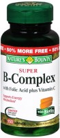Nature's Bounty Super B Complex With Folic Acid Plus Vitamin C Tablets 150 Tablets [074312131684]