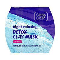 CLEAN & CLEAR Night Relaxing Detox Clay Mask 1.7  oz [381371177950]