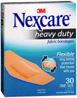 Nexcare Heavy Duty Flexible Fabric Bandages One Size 30 Each [051131995239]