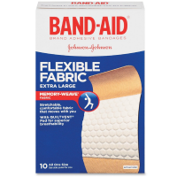 BAND-AID Flexible Fabric Bandages, Extra Large 10 ea [381370056850]