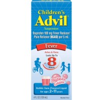 Advil Ibuprofen Fever Reducer/Pain Reliever Oral Suspension, Bubble Gum 4 oz [305730207300]