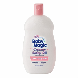 Baby Magic Creamy Baby Oil, Sweet Baby Rose 16.5 oz [075371050015]