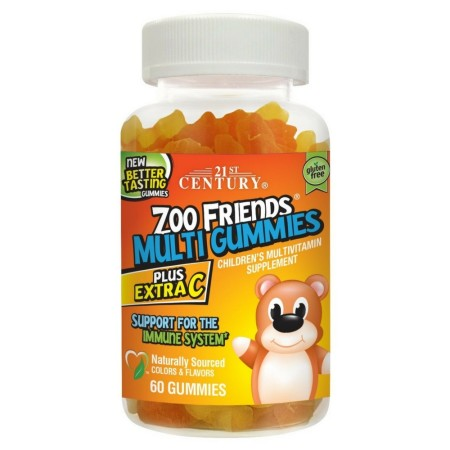 21st Century Zoo Friends Multi Gummies Plus Extra C 60 ea [740985276853]