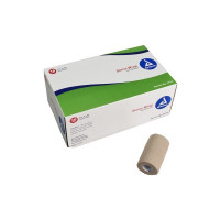 "Dynarex SensiWrap Cohesive Bandage 4"" X 5 Yard Standard Compression Selfadherent Closure Tan NonSterile [616784317427]"