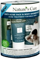 Nature's Cure Anti-Acne Face & Body Shower Kit For Males 1 Each [020382124323]