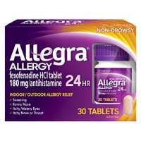 Allegra 24 Hour Allergy Tablets 30 Tablets [041167412510]