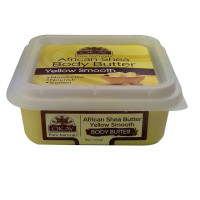 Okay African Shea Butter Yellow Smooth Body Butter 8 oz [810367019252]