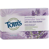 Tom's of Maine Natural Beauty Bar Soap With Raw Shea Butter, Lavender Tea Tree 5 oz [077326450925]