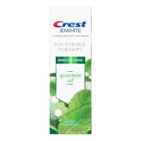 Crest 3D White Whitening Therapy Toothpaste For Sensitive Teeth Spearmint Oil, 4.1 oz [037000788263]