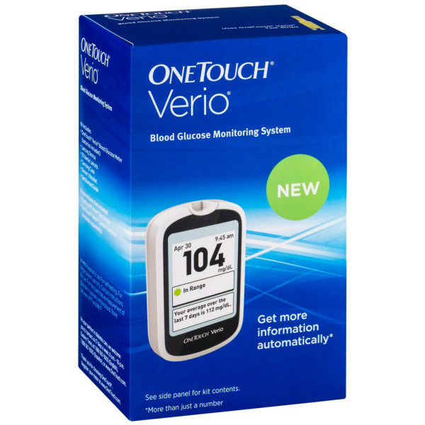 Onetouch Verio Blood Glucose Monitoring System 1 Ea