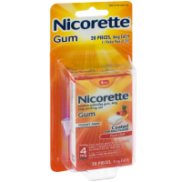Nicorette Nicotine Gum Pocket Pack, 4 mg, Fruit Chill 20 ea [307667849349]