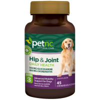 PetNC Natural Care Hip & Joint Advanced Mobility Chewable Support  for Dogs, Liver Flavor 45 ea [740985274804]