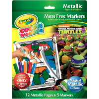 Crayola Color Wonder Teenage Mutant Ninja Turtles Metallic Paper and Markers 1 ea [071662120689]
