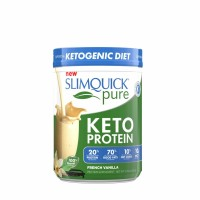 SLIMQUICK Pure Keto Protein Powder, French Vanilla, 21.16 oz [811568009288]