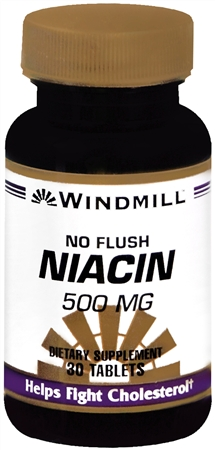Windmill Niacin 500 mg Tablets No Flush 30 Tablets [035046003364]