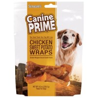Sergeant's Canine Prime Chicken Sweet Potato Wraps Dog Treats 8 oz [073091052487]