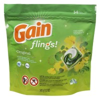 Gain Flings Laundry Detergent Pacs, Original 14 ea [037000867487]