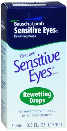 Bausch & Lomb Sensitive Eyes Rewetting Drops 0.50 oz [310119007365]