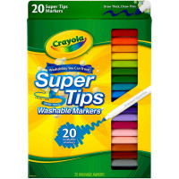 Crayola Super Tips Washable Markers 20 ea [071662081065]