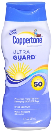 Coppertone UltraGuard Sunscreen Lotion SPF 50 8 oz [041100058133]
