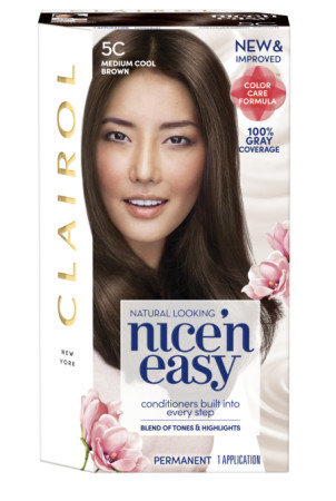 Nice 'n Easy Permanent Color Natural Medium Cool, Brown 1 ea [070018113740]