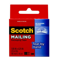 Scotch Tear-By-Hand Packaging Tape 1 ea [051131657656]