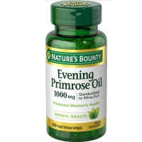 Nature's Bounty Evening Primrose Oil 1000 mg Softgels 60 ea [074312073731]