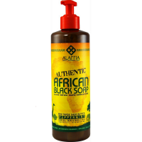 Alaffia Authentic African Black Soap, Peppermint 16 oz [187132002703]