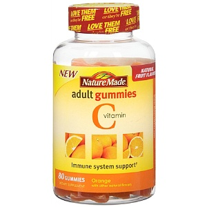 Nature Made Vitamin C Adult Gummies, Orange 80 ea [031604028435]